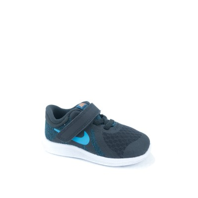 NIKE 943304-016 REVOLUTION 4 OFF NOIR/LT CURRENT BLUE-BLUE FORCE